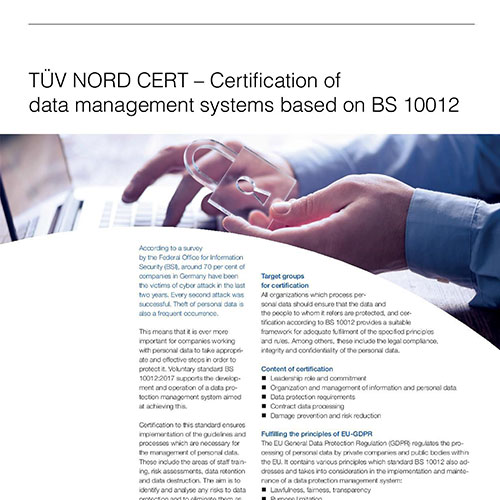 Data management systems - BS 10012